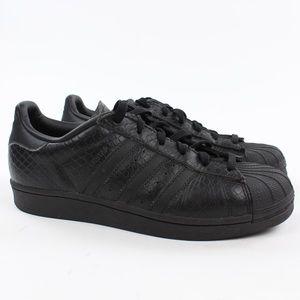 Adidas Superstar Snakeskin Triple Black Womens 6.5